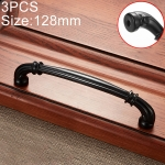 3 PCS 6569-128 Simple Archaistic Zinc Alloy Handle for Cabinet Wardrobe Drawer Door, Hole Spacing: 128mm