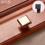 5 PCS 6609 Single Hole Zinc Alloy Cabinet Wardrobe Drawer Door Handle (Coffee Bronze)