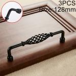 2 PCS 6099-128 Classic Birdcage Shape Iron Cabinet Wardrobe Drawer Door Handle, Hole Spacing: 128mm (Matte Black)