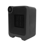 Mini Dormitory Office Desktop Radiator Warmer Electric Heater Warm Air Blower (Black)