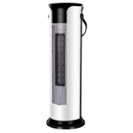 Household Shaking Head Vertical Tower Fan Radiator Warmer Electric Heater Warm Air Blower, Manual Version (White)