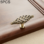 5 PCS 6103 Single Hole Classic Birdcage Shape Iron Cabinet Wardrobe Drawer Door Handle (Bronze)