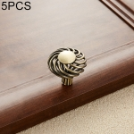 5 PCS 6109 Single Hole Classic Birdcage Shape Iron Cabinet Wardrobe Drawer Door Handle (Bronze)