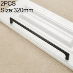 2 PCS 9011_320 Simple Black Drawer Cabinet Handle