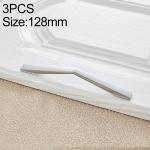 3 PCS 4068_128 Bright Chrome Zinc Alloy Polished Bathroom Cabinet Handle