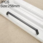 2 PCS 9009_256 Simple Black Drawer Cabinet Handle