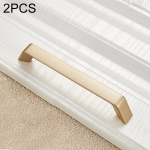 2 PCS 9009_128 Modern Simple Cabinet Door Handle Drawer Wardrobe Zinc Alloy Handle (Gold)