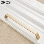 2 PCS 9009_192 Modern Simple Cabinet Door Handle Drawer Wardrobe Zinc Alloy Handle (Gold)