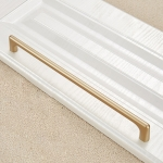 9009-320 Modern Simple Cabinet Door Handle Drawer Wardrobe Zinc Alloy Handle (Gold)
