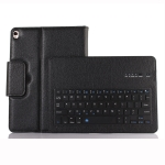 IP09 For iPad 10.2 inch Litchi Texture Detachable ABS Bluetooth Keyboard Leather Case with Stand Function (Black)