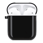 Silicone + PC Earphones Shockproof Protective Case for Apple AirPods 1 / 2 (Black)