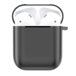 Electroplated TPU Earphones Shockproof Protective Case for Apple AirPods 1 / 2(Black)