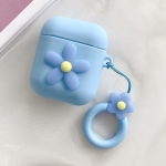 Wireless Earphones Shockproof Little Flower Silicone Protective Case for Apple AirPods 1 / 2 (Blue)