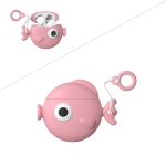 Wireless Earphones Shockproof Cute Fish Silicone Protective Case for Apple AirPods 1 / 2 (Pink)