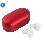X9S TWS Bluetooth V5.0 Stereo Wireless Earphones with LED Charging Box(Red)