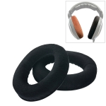 2 PCS For Sennheiser HD515 / HD555 / HD595 / HD598 / HD558 / PC360 Flannel Earphone Cushion Cover Earmuffs Replacement Earpads with Tone Tuning Cotton (Black)