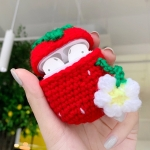 Strawberry Pattern Plush Knitted Cute Protective Case for Apple AirPods 1/2