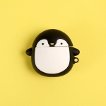 For Airpods Cartoon Penguin Shape Earphone Silicone Protective Case with Hook