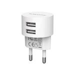 BOROFONE BA23A 2.1A Brilliant Dual Port Charger Power Adapter, EU Plug