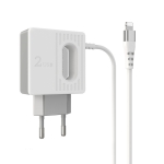 BOROFONE BA34 2.4A  Jei Dual USB Port Charger Power Adapter With 8 Pin Charging Cable,EU Plug