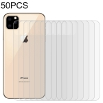 50 PCS For iPhone 11 Pro 9H 2.5D Half – Screen Transparent Mobile Phone Tempered Glass Film Back Film