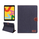 Dibase For iPad 10.2 inch Horizontal Flip Denim Leather Case, with Holder & Card Slots & Wallet & Sleep / Wake-up Function(Black)