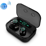 M7 TWS V5.0 Binaural Wireless Stereo Bluetooth Headset with Charging Case and Digital Display (Black)