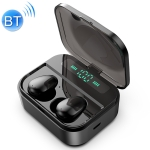 X7 TWS V5.0 Binaural Wireless Stereo Bluetooth Headset with Charging Case and Digital Display (Black)
