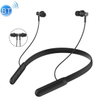 Bluetooth 5.0 Noise Reduction Stereo Neckband Headset (Black)