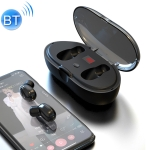 W23 TWS V5.0 Bluetooth Earphone with Charging Box, Battery Display Function (Black)