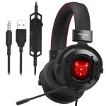 ONIKUMA K3 RGB Single Plug Light Adjustable PC Gaming Headphone with Microphone (Black Red)