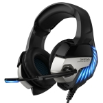 ONIKUMA K5 Pro Adjustable PC Gaming Headphone with Microphone, Upgrade Version (Black Blue)