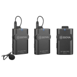 BOYA BY-WM4 Pro K2 Dual-Channel Digital Wireless Lavalier Microphone System with Transmitter and Receiver for Smartphones and Cameras (Black)