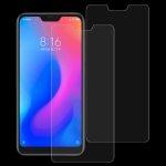 2 PCS 0.26mm 9H Surface Hardness 2.5D Curved Edge Tempered Glass Film for Xiaomi Redmi Note 6 Pro
