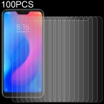 100 PCS 0.26mm 9H Surface Hardness 2.5D Curved Edge Tempered Glass Film for Xiaomi Redmi Note 6 Pro