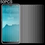 50 PCS For Nokia 6.2 2.5D Non-Full Screen Tempered Glass Film