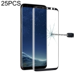 25 PCS For Galaxy S8 Plus Full Screen Edge Glue Tempered Glass Screen Protector (Black)