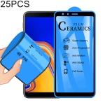 25 PCS 2.5D Full Glue Full Cover Ceramics Film for Galaxy J4 Plus / J6 Plus