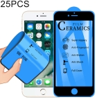 25 PCS 2.5D Full Glue Full Cover Ceramics Film for iPhone 6(Black)