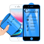 2.5D Full Glue Full Cover Ceramics Film for iPhone 8 Plus / 7 Plus (Black)