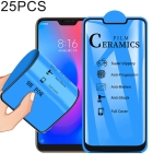 25 PCS 2.5D Full Glue Full Cover Ceramics Film for Xiaomi Redmi 6 Pro / Mi A2 Lite