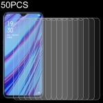 50 PCS 0.26mm 9H 2.5D Tempered Glass Film for OPPO A9X