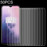 50 PCS 0.26mm 9H 2.5D Tempered Glass Film for OnePlus 7T