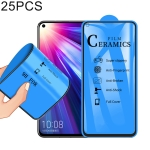 25 PCS 2.5D Full Glue Full Cover Ceramics Film for Huawei Nova 4 / Honor V20