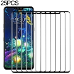 25 PCS 9H 3D Full Screen Tempered Glass Film for LG V50 ThinQ 5G