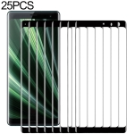 25 PCS 9H 3D Curved Full Screen Tempered Glass Film for Sony Xperia XZ3