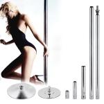 IndoorRotary Fixed Dual-purpose Pole Dance Steel Tube(Silver)