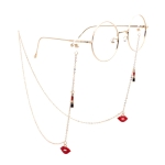 Lipstick Lips Style Hollow Fashion Simple Eyeglasses Chain