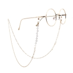 Stars Style Hollow Fashion Simple Eyeglasses Chain (Gold)