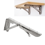 18 inch K Type Wall-mounted Foldable Stainless Steel Spring Storage Shelf for Dining Table